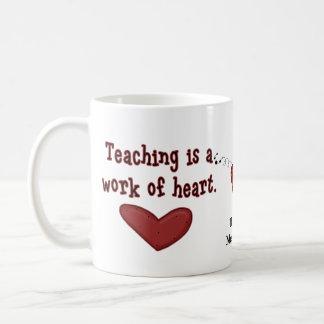 先生の感謝のハートのマグ コーヒーマグカップ