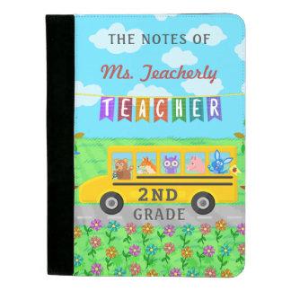 先生の感謝は|かわいいバス動物感謝していしています パッドフォリオ