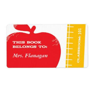 先生の本のラベル ラベル