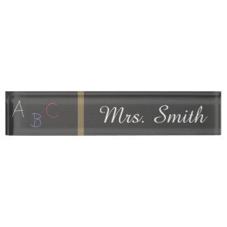 先生の机用ネームプレートの黒板は名前を個人化します デスクネームプレート