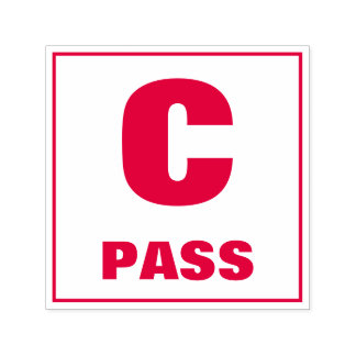 先生の等級分けのスタンプ: Cのパス セルフインキングスタンプ