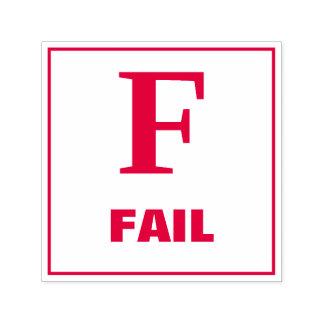 先生の等級分けのスタンプ: F -失敗 セルフインキングスタンプ