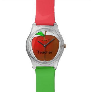 先生の緑の赤い腕時計のための名前入りなApple 腕時計