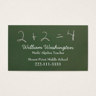 先生の緑の黒板の名刺 名刺