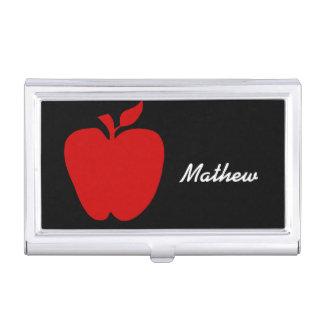 先生の赤いAppleの名刺ケース 名刺入れ