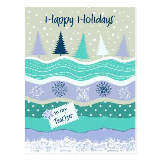 先生の雪片のスクラップブック作りのための幸せな休日 ポストカード