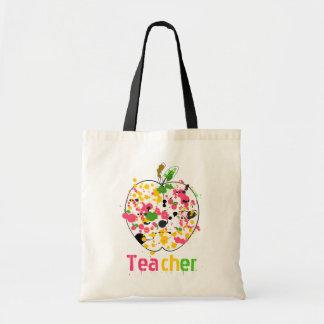 先生のAppleのペンキの(ばちゃばちゃ)跳ねるのバッグ トートバッグ