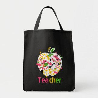 先生のAppleのペンキの(ばちゃばちゃ)跳ねるの買い物袋 トートバッグ