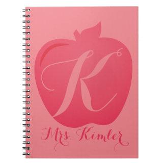 先生のAppleのモノグラムのカスタムなノートのギフト ノートブック