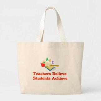 先生は学生を達成しますバッグを信じます ラージトートバッグ