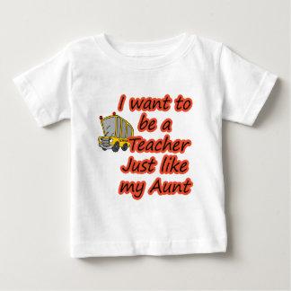 先生は私の叔母さんを好みます ベビーTシャツ