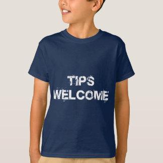 先端の歓迎 Tシャツ