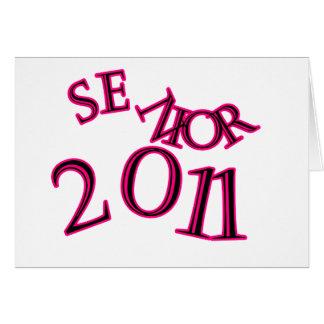 先輩2011のピンク カード