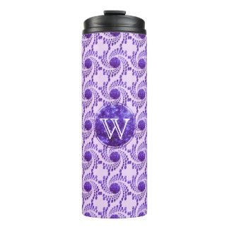 光っている紫色の渦巻く点 タンブラー