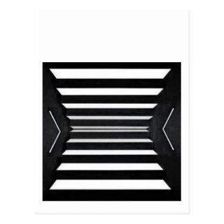 光ビーム: BNW B&W BlackNwhiteスペクトル ポストカード