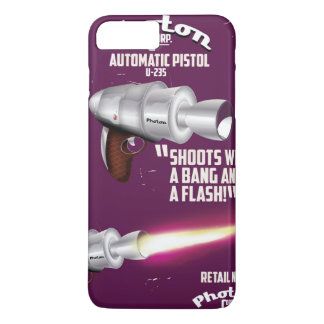 光子のヴィンテージのピストル空想科学小説ポスター iPhone 8 PLUS/7 PLUSケース