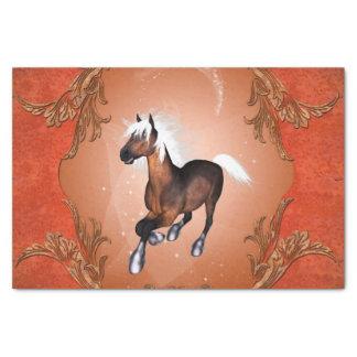 光学のすばらしい馬は白い鬣によって絵を描きました 薄葉紙