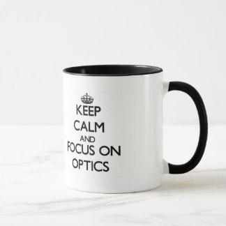 光学の平静そして焦点を保って下さい マグカップ