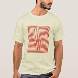 光学スカルのティー Tシャツ