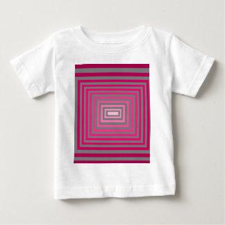 光学ピンクの紫色の灰色の芸術の錯覚 ベビーTシャツ