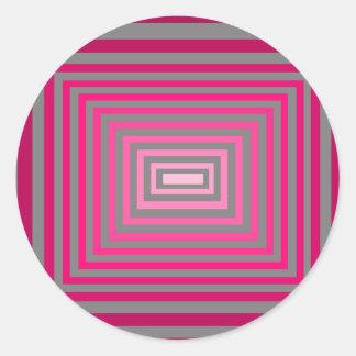 光学ピンクの紫色の灰色の芸術の錯覚 ラウンドシール