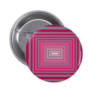 光学ピンクの紫色の灰色の芸術の錯覚 5.7CM 丸型バッジ