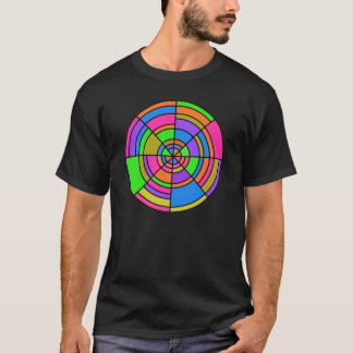 光学円のTシャツ Tシャツ