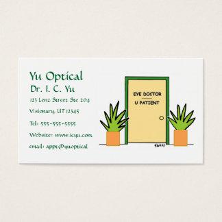 光学漫画のビジネスかアポイントメントカード 名刺