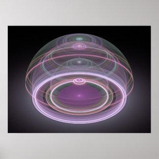 光学芸術3Dの壮大なジュリアンのフラクタル08 ポスター
