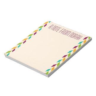光学葉のデザイン ノートパッド