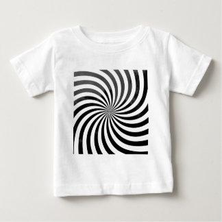 光学詐欺黒い及び白のストライプ ベビーTシャツ