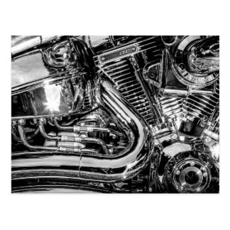 光沢があるモーターバイクエンジン ポストカード