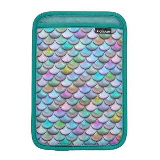 光沢がある光沢のあるpearlescent多彩な人魚のスケール iPad miniスリーブ