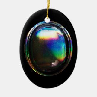 光沢がある泡虹の反射のデザイン セラミックオーナメント