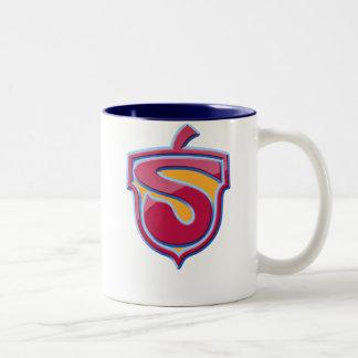 光沢がある素晴しいすごいS - ツートーンマグカップ