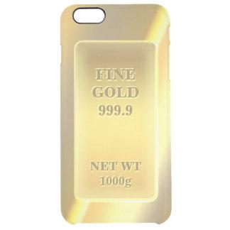 光沢がある素晴らしい金ゴールド999.9の金ゴールドの煉瓦陸軍少尉の階級章 クリア iPhone 6 PLUSケース