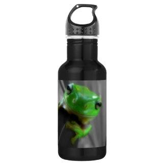 光沢がある緑カエル ウォーターボトル