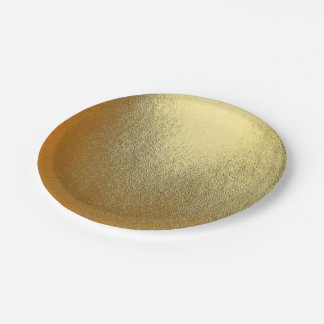 光沢がある金ゴールドの芸術 ペーパープレート
