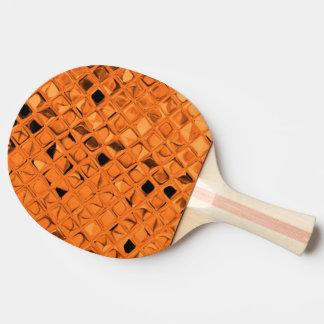 光沢がある金属オレンジダイヤモンドののどの蛇紋岩 卓球ラケット