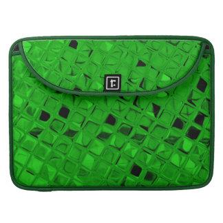 光沢がある金属ガーリーなエメラルドグリーンのダイヤモンドの鏡 MacBook PROスリーブ
