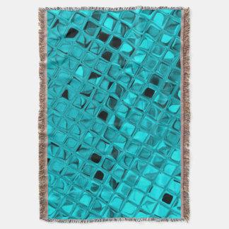 光沢がある金属ダイヤモンドの蛇紋岩のティール(緑がかった色)のアフガニスタン人 スローブランケット
