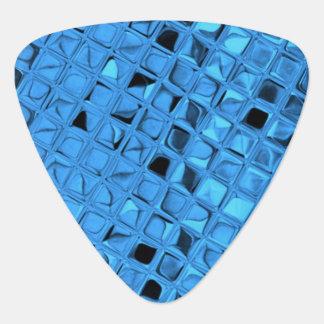 光沢がある金属青いダイヤモンドののどの蛇紋岩 ギターピック