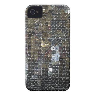 光沢がある銀製のスパンコール Case-Mate iPhone 4 ケース