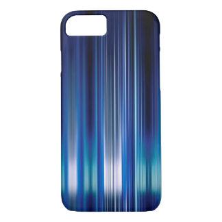 光沢がある青い速度はパターンを並べます iPhone 8/7ケース