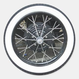 光沢があるCromeのヴィンテージのタイヤのステッカー ラウンドシール