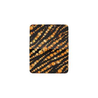 光沢のあるオレンジ黒いシマウマの抽象芸術 名刺入れ
