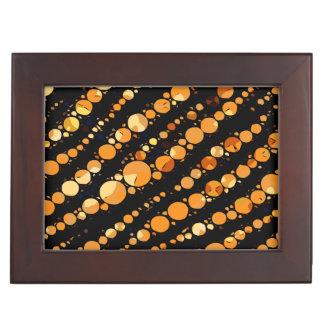 光沢のあるオレンジ黒いシマウマの抽象芸術 宝石箱