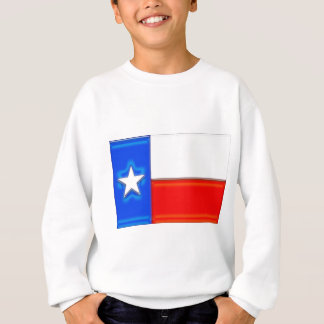 光沢のあるテキサス州の旗 スウェットシャツ