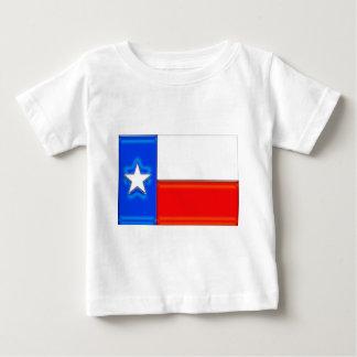 光沢のあるテキサス州の旗 ベビーTシャツ