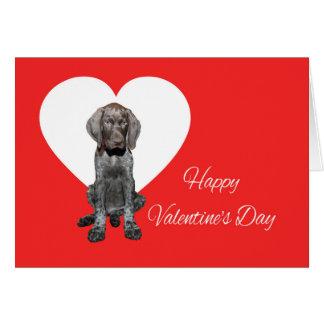 光沢のあるハイイログマのバレンタインの初恋 カード